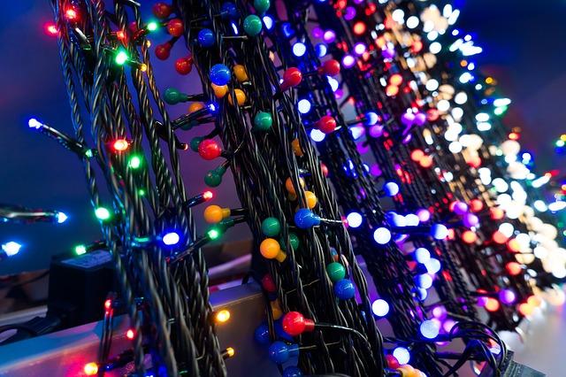 Traditionele kerstboomverlichting